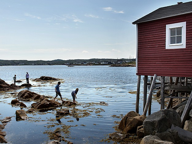 Children playing on Fogo Island, Newfoundland